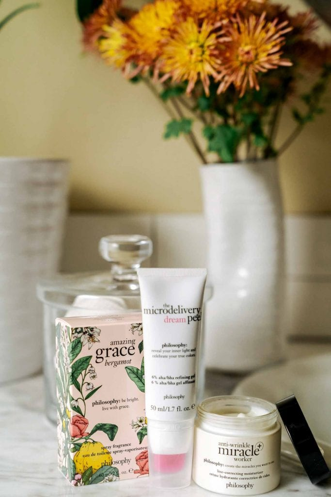 philosophy skincare products offer a li'l beauty magic in a bottle (or a tube). Amazing Grace perfume, a low-maintenance peel —miracle workers perfect for gifting.