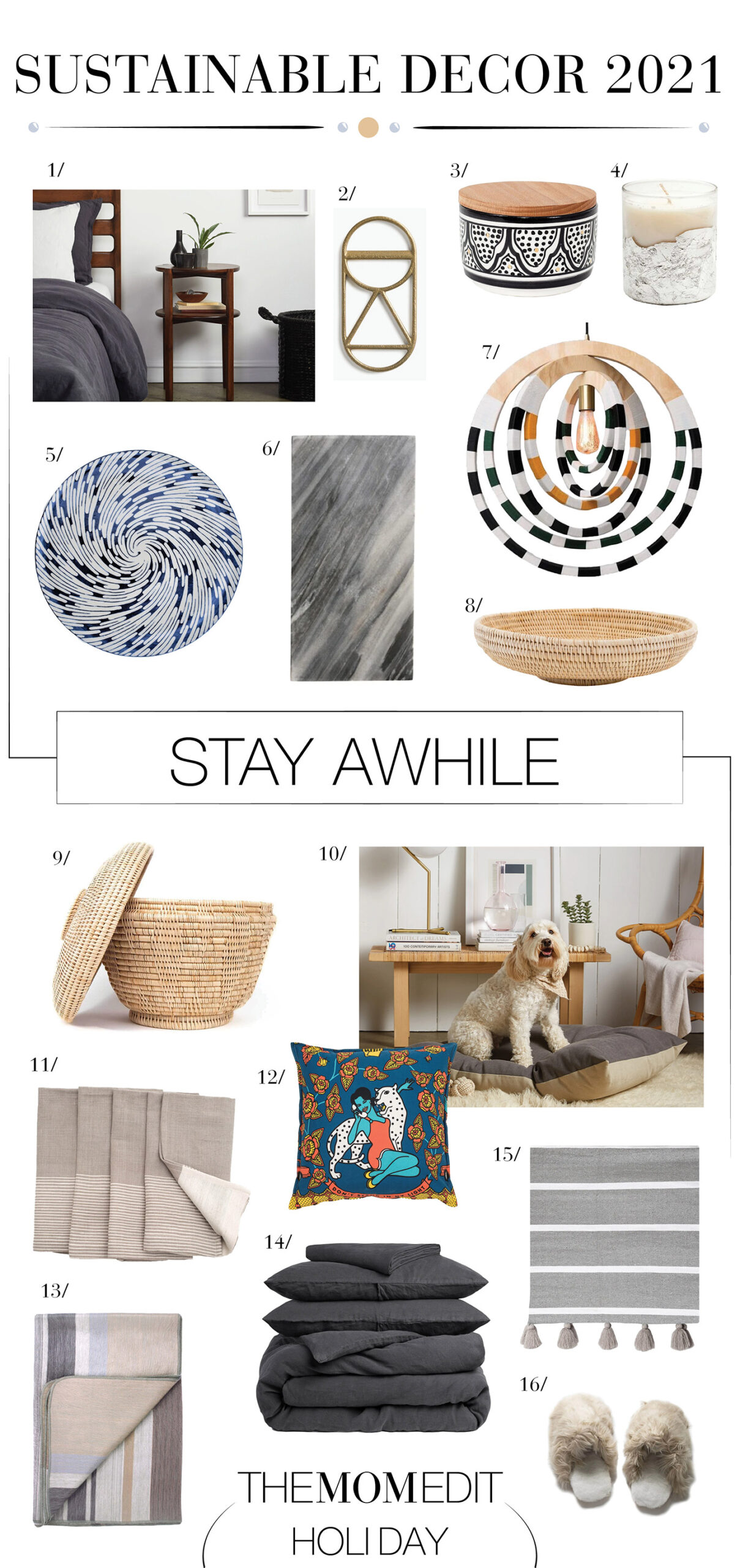 To spark joy, we're going sustainable. Think handmade, artisanal, eco-friendly, Black-owned, fair trade & community supporting. Beautiful home decor, right this way.
