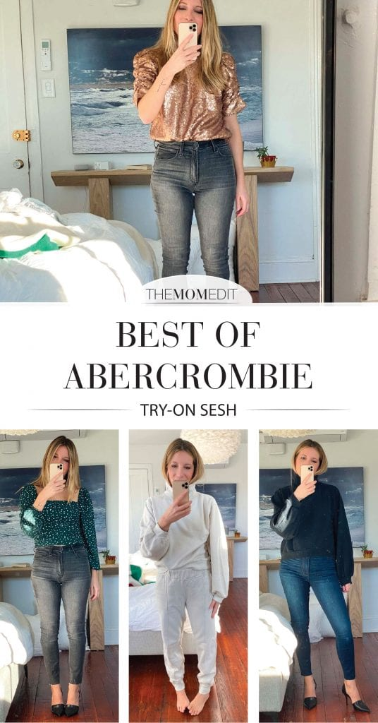 Just in time for Black Friday! Abercrombie & Fitch is good rn — cute tops for the holiday & loungewear to live in all season — oh! check out these jeans, too.
