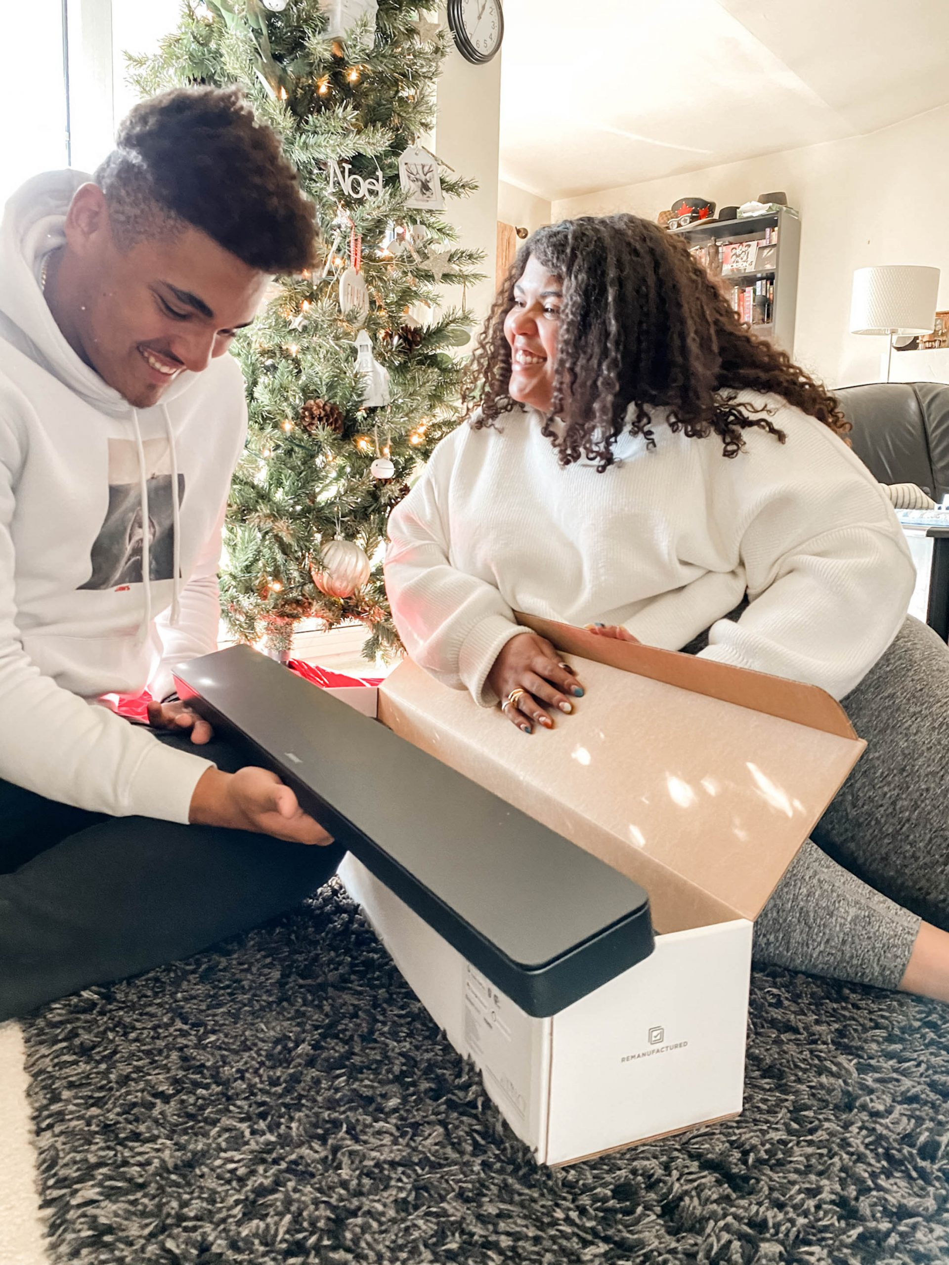 Oh, hey, holiday movies! We're going all-in on the family theater experience, starting with refurbished electronics to make things a li'l greener & more affordable.
