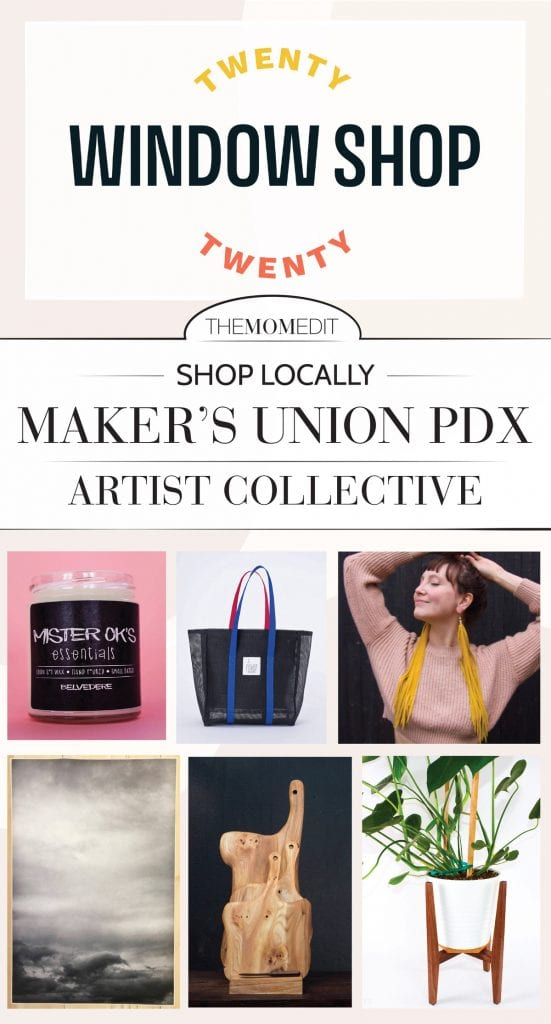 A shop small opportunity we're thrilled about: Makers Union PDX & Portland Made offer Window Shop 2020. Support local artists + benefit the Black Resilience Fund. SO good.