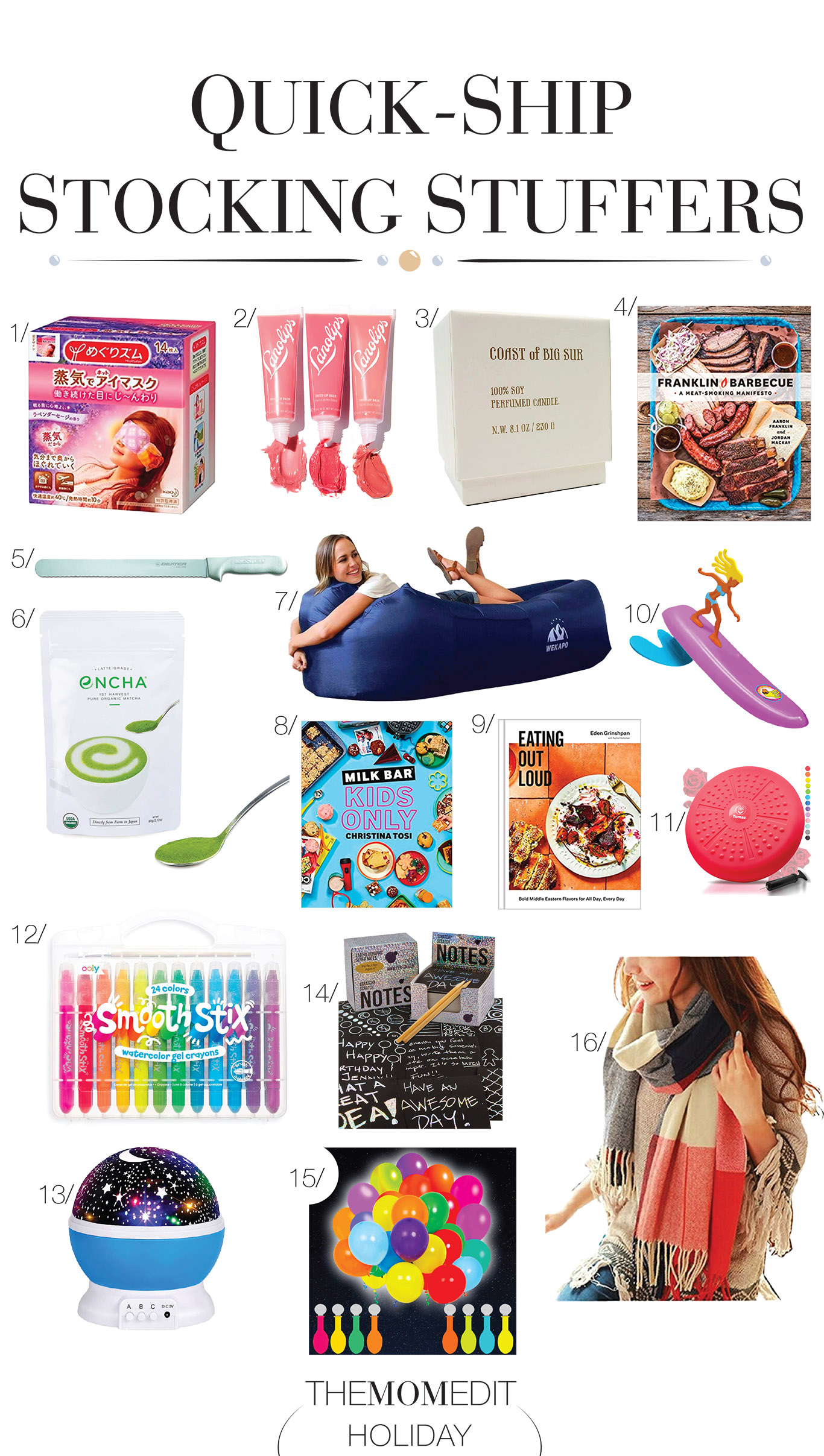 Don't walk, run! We've got 16 tried-&-true stocking stuffer ideas we personally vouch for + a few smaller gifts for him, her or them. And it all ships in time for Christmas.