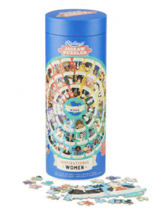 Just the kind of challenge kids & adults need: beautiful puzzles — double-sided, round, recycled, layered...perfect for indoor family time (& also for gifts).