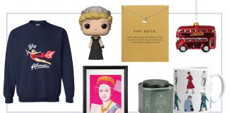 Obsessed w/ the Royals? On it. British-inspired baubles to wear around the palace (er, house), tea sets & Lady Diana merch...for the Crown superfan in your life —this gift guide.