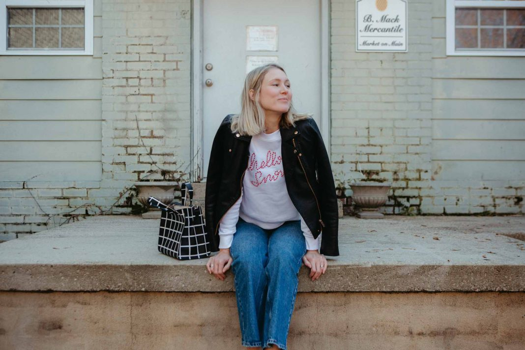 If there's ANYTHING I can do with bold, unwavering confidence…it's wear a graphic sweatshirt....A cute casual outfit solution for looking festive.