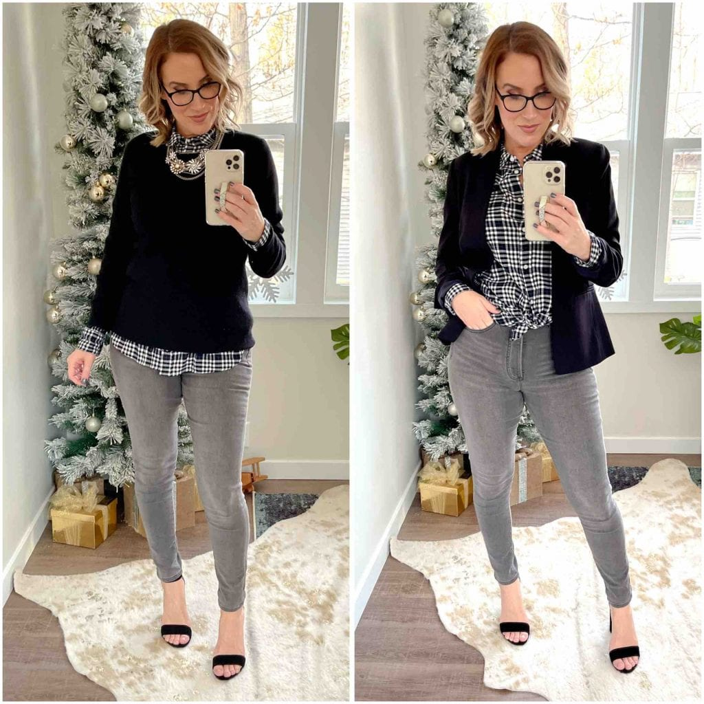 J.Crew pretty much as everything we need to wear this holiday season....Zoom party tops, cozy jogger sets, sweaters....& this 1 coat you really need.