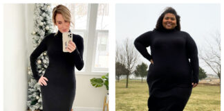 We have the same style & we're trying the same dress. That long sleeve black turtleneck dress from Universal Standard is GOOD. A review in 2 straight & plus sizes.