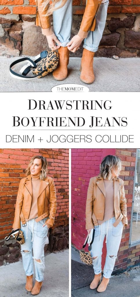 But seriously, these drawstring jeans?? The perfect compromise b/n denim & joggers. They're that perfectly slouchy fit that feels kinda sexy & kinda badass at the same time.