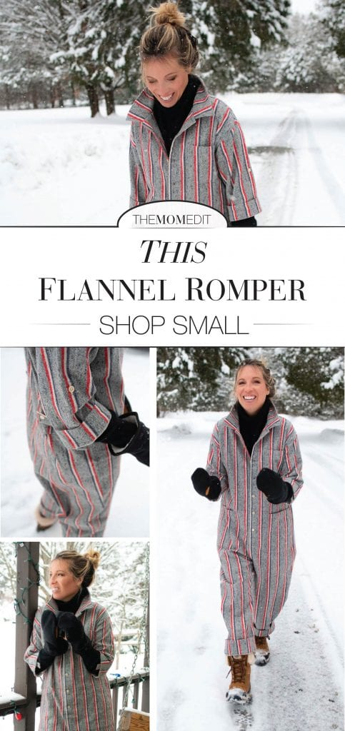 Once again proving that Nichole of Shop Mrs. Jones is inside our heads...she just launched, for the sick-of-sweatpants crowd (yessss), this flannel jumpsuit.