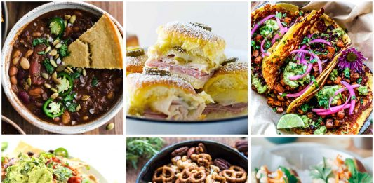 0 Super Bowl recipes ranging from carnivores' classics to vegan and/or gluten-free. Can be easily scaled down or eaten like a meal for game day at home snacking.