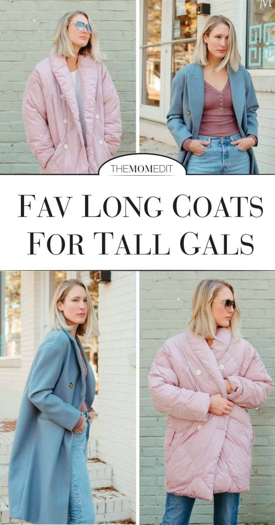 These long winter coats! One, a classic, longline silhouette by Topshop in the most beautiful pale blue, the other, a retro-inspired wisteria cloud of delight by Free People.