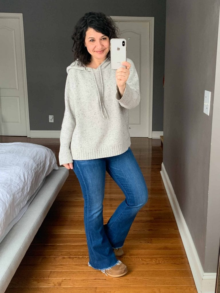 UGG hiker boots, MOTHER jeans, a Vince cardigan & the coziest Birkenstocks for winter —the wardrobe workhorses I'm living in these days.