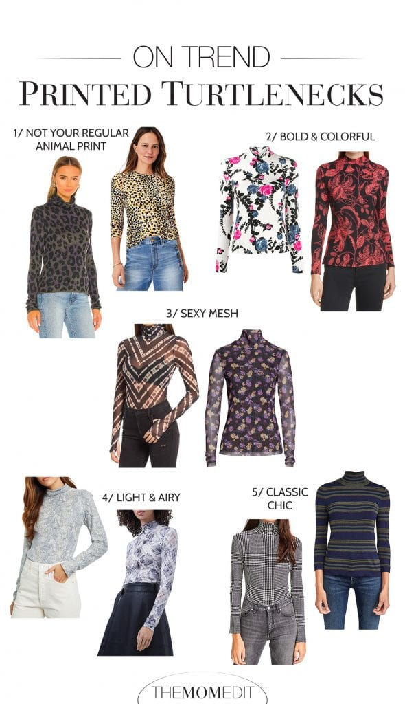 Layer printed turtlenecks under blazers, button-downs, or cardigans for a peek of fun. They also look amazing on Zoom calls, so you don't look so basic.