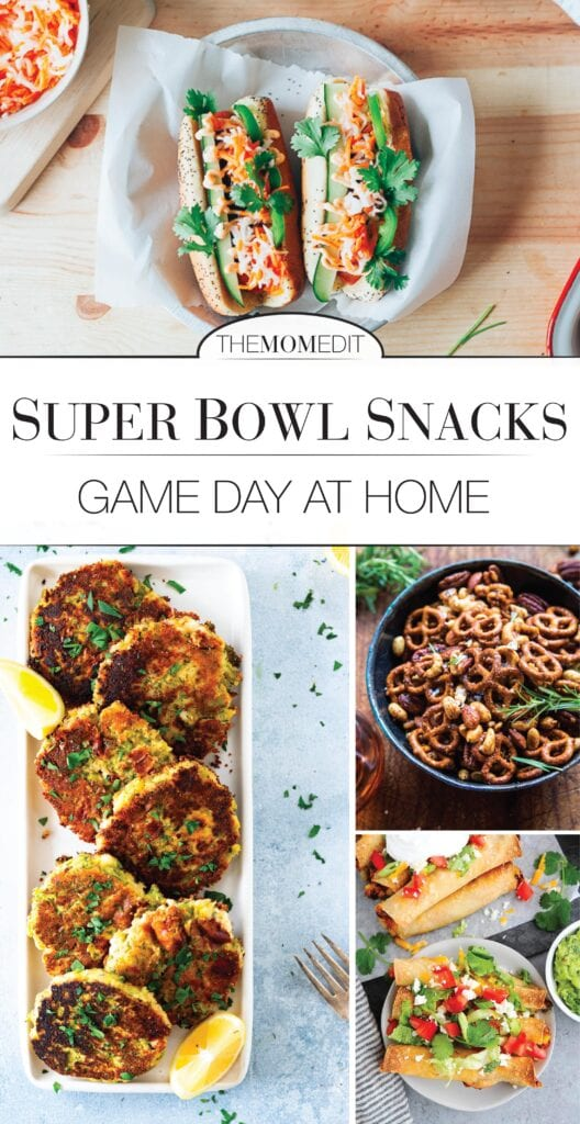 10 Super Bowl recipes ranging from carnivores' classics to vegan and/or gluten-free. Can be easily scaled down or eaten like a meal for game day at home snacking.