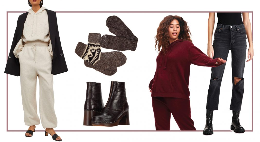 Our sustainable fashion favs (a bit different from our usual shades of darkness, #thankyouverymuch). Think: creamy beige, gray, black...w/ some gorg burgundy thrown in.