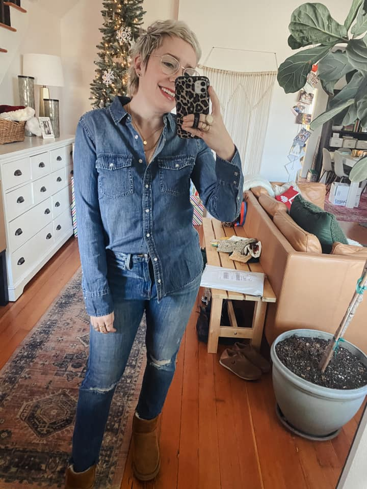 Verishop has a few of my fav fashion finds under $100 for any wardrobe updates you're craving rn. Thinks Levi's denim jackets, Madewell sweaters....