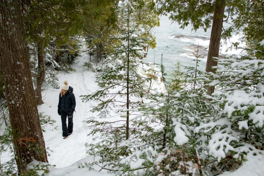 """But winter? Presque Isle in the winter is...magic. """"The island"""" is how locals refer to Presque Isle State Park, a peninsula that juts out into Lake Superior."""
