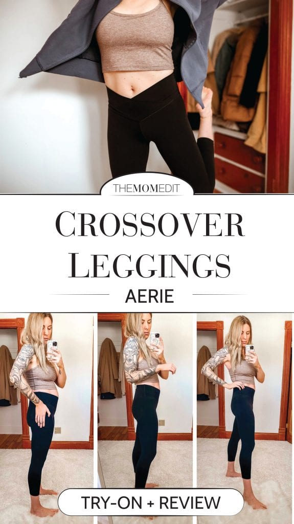 The Aerie Crossover Leggings of TikTok fame are in! The moment I read the waist-trimming claims, I had to know if they could work on my boxy frame.