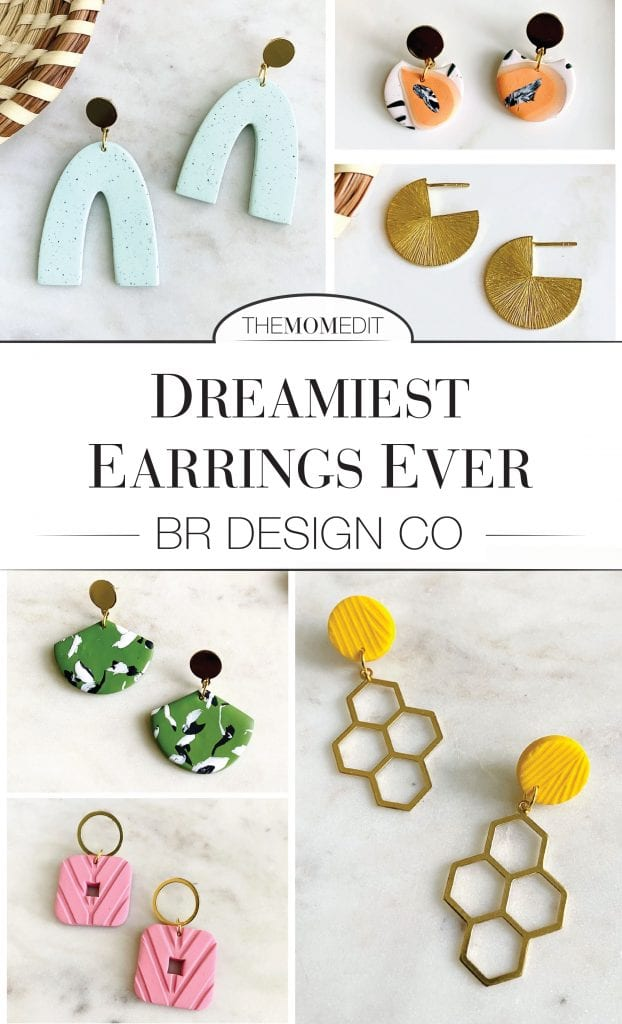 Handmade jewelry from a Black-owned business....I fell in-love with BR Design Co + their playful earrings in all sorts of colors, shapes & textures.