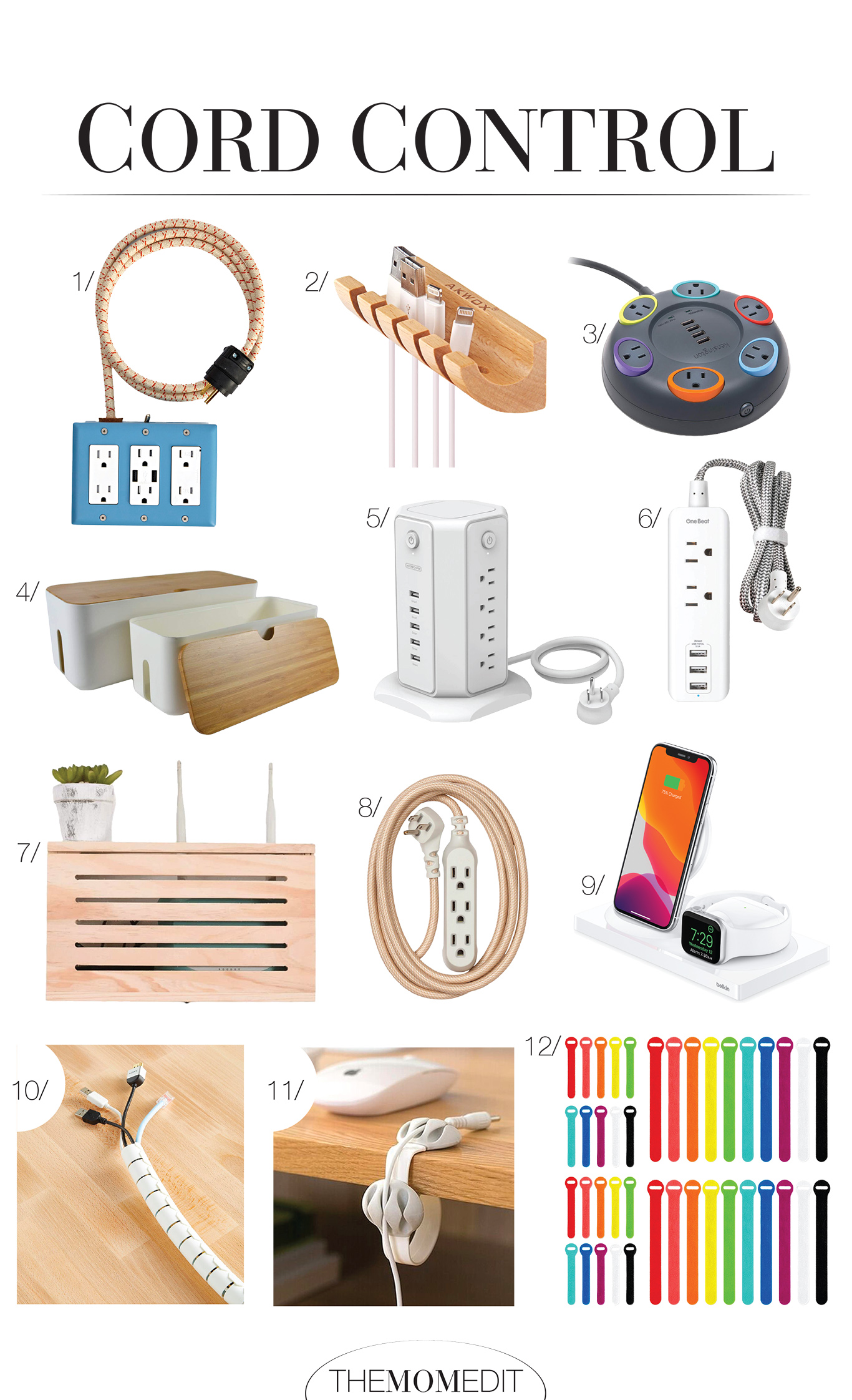 We're plugging away at organizing an out-of-control power cord situation in our home. Now we've got 12 ways to hide computer cord clutter.