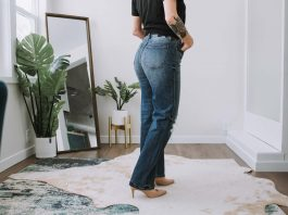 I LOVED the DAZE denim -- straight out of the box. The distressing on these jeans is really good. So: flattering, comfy, eco-friendly & under $100? YES.