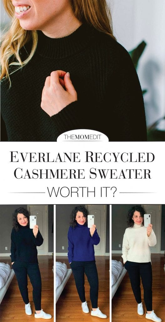 Is the Everlane Oversized Stroopwafel Turtleneck sweater in ReCashmere worth it? We've got the deets on shape, texture, weight, softness, sizing, sustainability & cost.