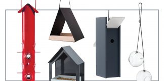 I'm learning that birds need houses + feeders & that different birds have different requirements--who knew? Here are 12 beautiful, modern birdhouses & feeders.