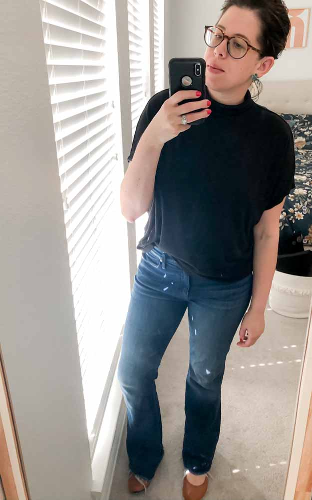"""My """"I can't deal w/ makeup, but I can pull on a pair of jeans"""" outfit. An autoimmune disease is not a requirement. Everyone has """"those kind of days."""""""