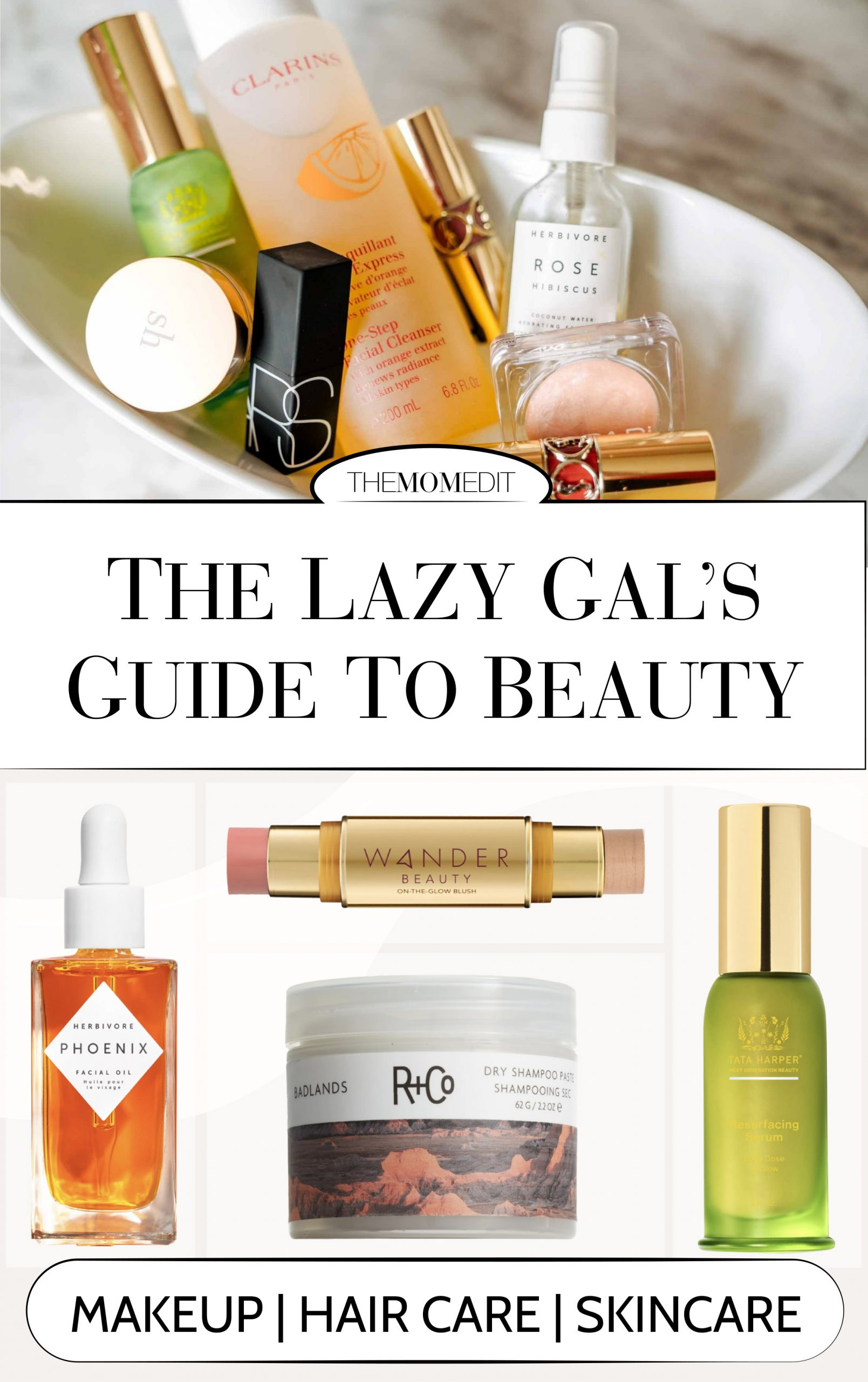 After years of taking care of my skin, makeup & hair, I've found all the products that, for me, make my morning regimen & evening routine super quick + painless.