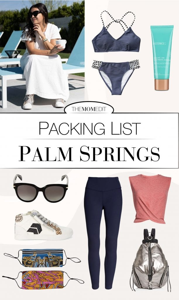 Palm Springs is a total vibe -- nostalgic & modern, casually boho & country club glam. So here's our effortlessly cool, casual-chic packing list for a low-key vacay.