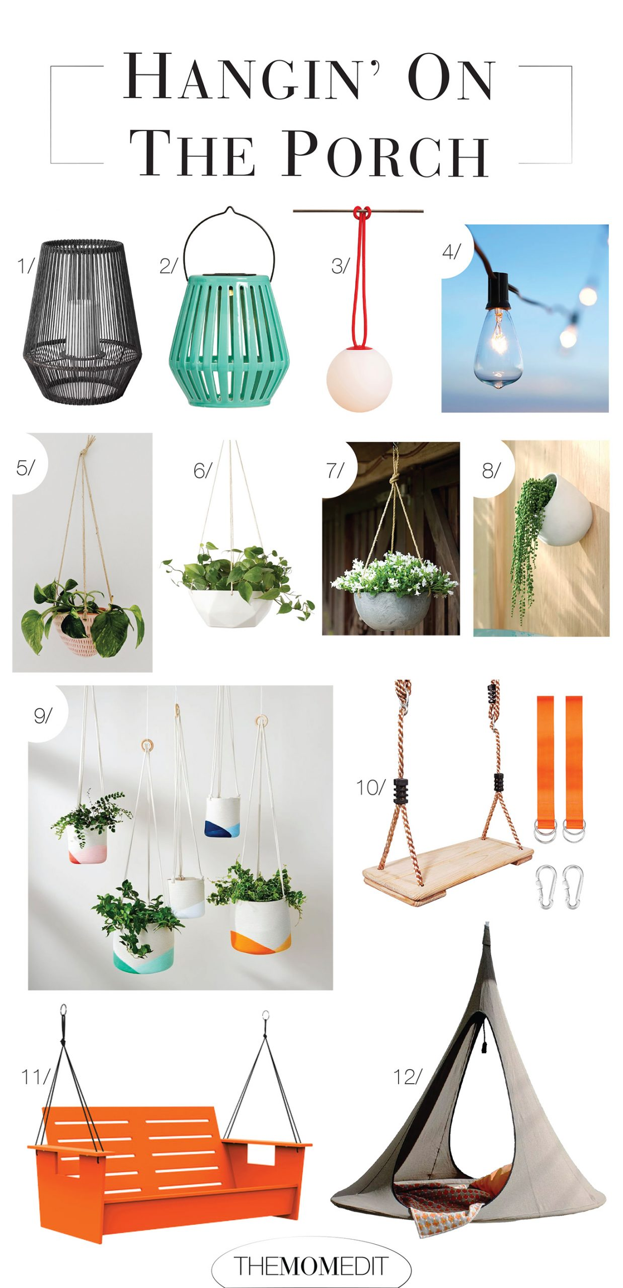 Give us pretty hanging string lights, a gorg hurricane lanterns, a perfectly handcrafted hanging planters + maybe a porch swing...anywhere can be a dreamy place to hang!