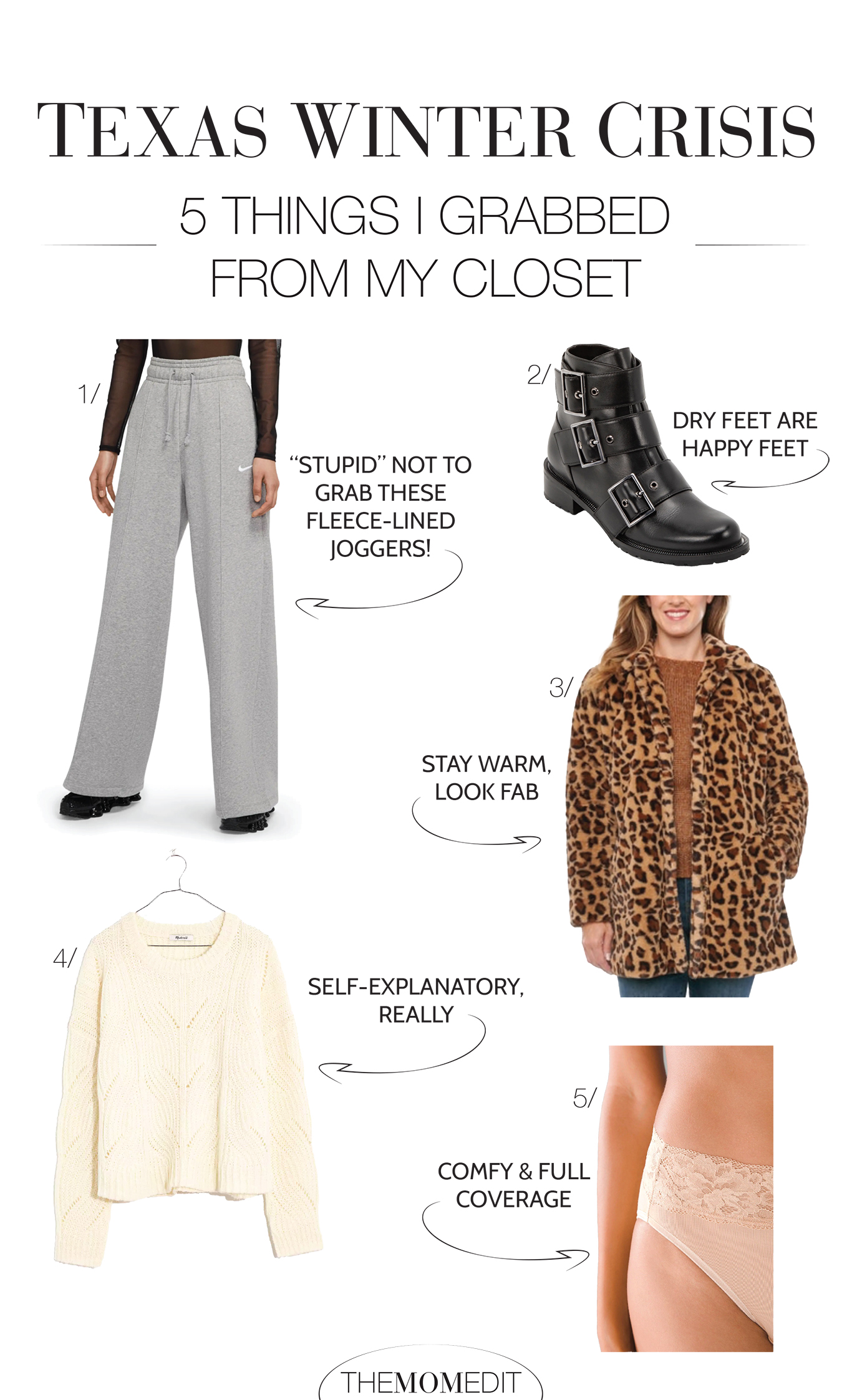 You haven't lived until you've raided a closet in a powerless, flooded home..shivering in a faux fur leopard coat & grabbing as much as possible by the light of a dying iPhone.
