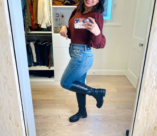 I started seeing tall lug sole boots on IG, even ads. Game on!! Vagabond not only makes those amazing chunky booties, but also knee-high boots.