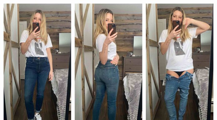 """I'm searching for seriously comfy denim....jeans I won't want to rip, screaming, from my body as I collapse on the floor, sweatpants cradled in my arms, whisper-crying, """"I'll never leave you again...."""""""