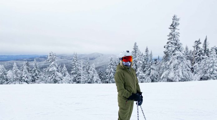 Halfdays offers women's ski jackets & snow pants in vibrant colors; no more 'shrink it and pink it'. Even more, they're woman-owned & committed to sustainability.