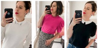I was immediately captivated by CeCe tops. The feminine touches that elevate a basic blouse. A pearl here, a peter pan collar there. I'm in the early throws of new brand love.