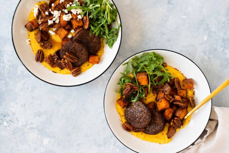Vegan Sheet Pan Brunch Bowls with Creamy Grits