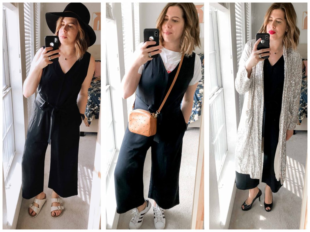 The Everlane Japanese GoWeave Essential Jumpsuit is freakin' fabulous. It hits all my requirements for a