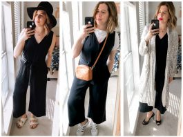 "The Everlane Japanese GoWeave Essential Jumpsuit is freakin' fabulous. It hits all my requirements for a ""keeper jumpsuit."" Pockets. Normal bra...."