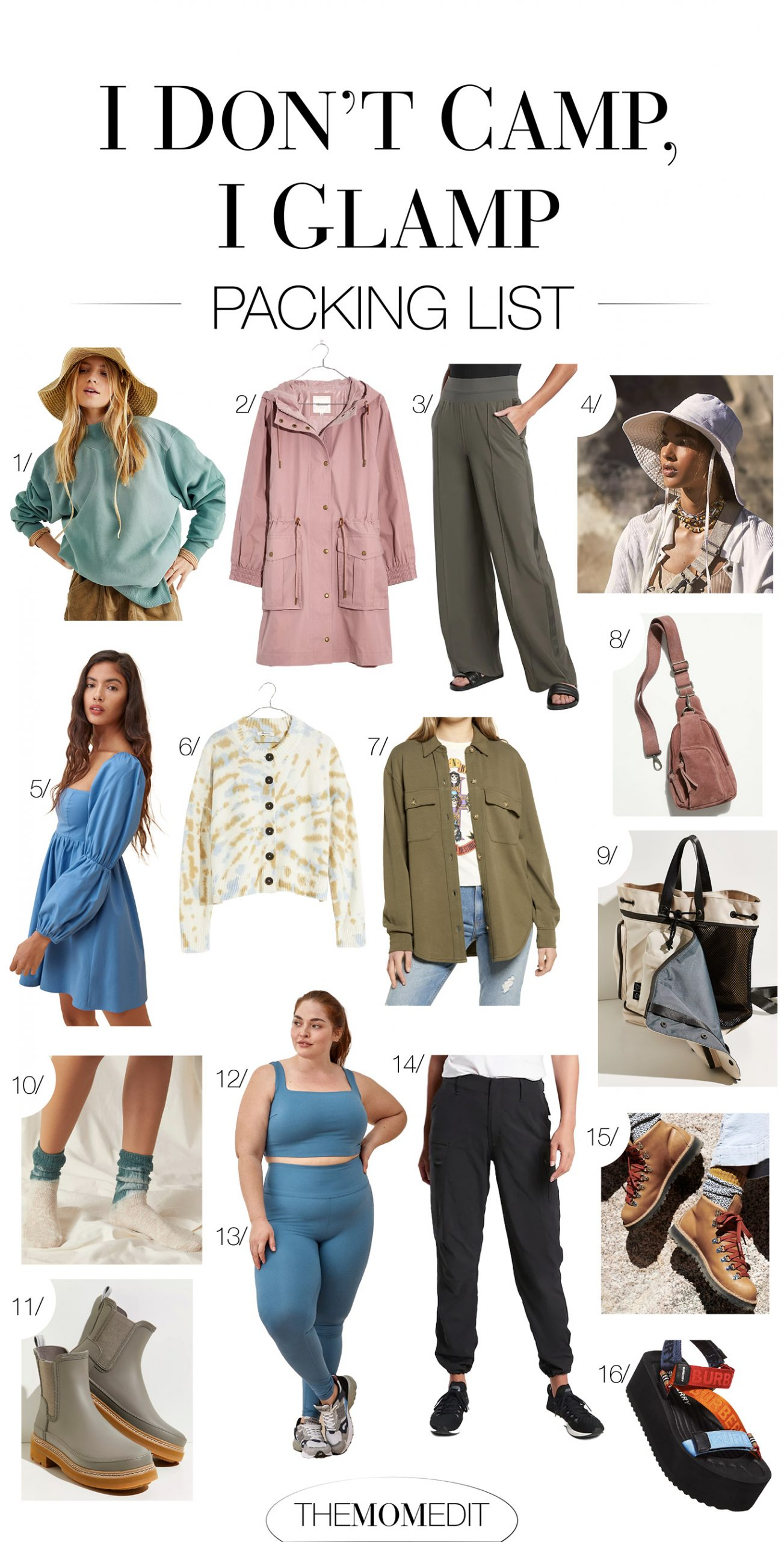 I am, however, an avid glamping girl. For the glamorous camping life, there are a few cute outfit essentials for my packing list.