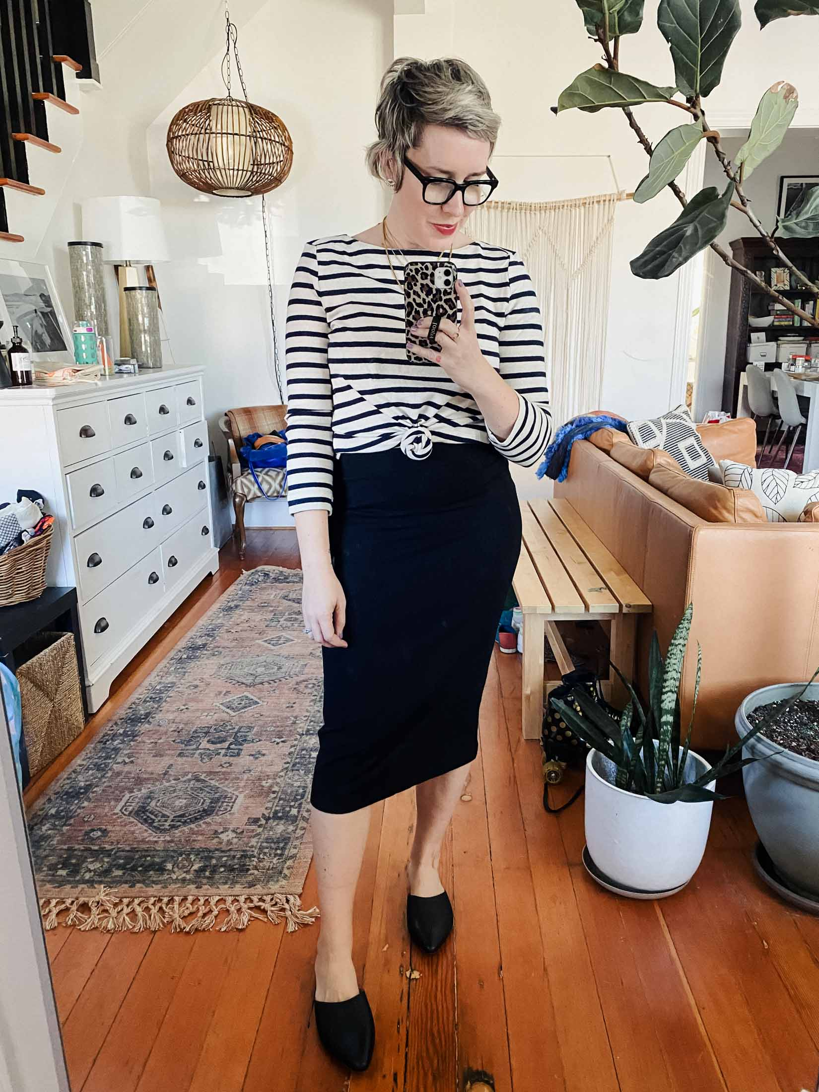 LOFT is a go-to place for spring try-ons: a great mix of casual & work-appropriate separates that always mix + match well. Stripes, leopard print & a cute midi, all inside.