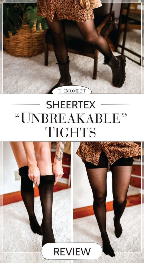 "When my mom told me about Sheertex ""unbreakable"" tights, I was in disbelief. ""Ethically made"", ""10x stronger than steel"", + ""one of TIME's best inventions"" -- it's also woman-owned."