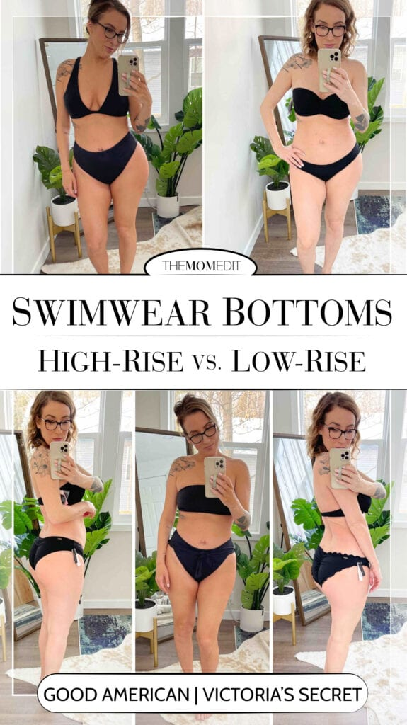 I'm comfy in my old low-rise, full-coverage bikinis, but I don't want to be stuck in a style rut. And those high-waist, cheeky bottoms? Definitely a bit scary. But...they're just swim bottoms.