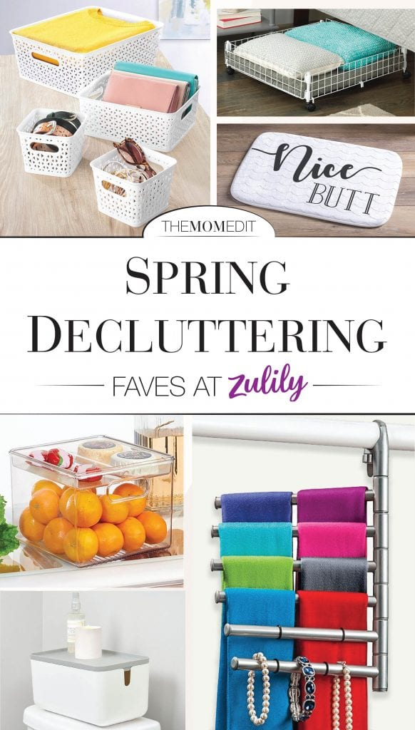 "Spring is always a motivator to do a little household refresh & organization of ""all the things"" & Zulily also has some cool organizational problem-solvers."