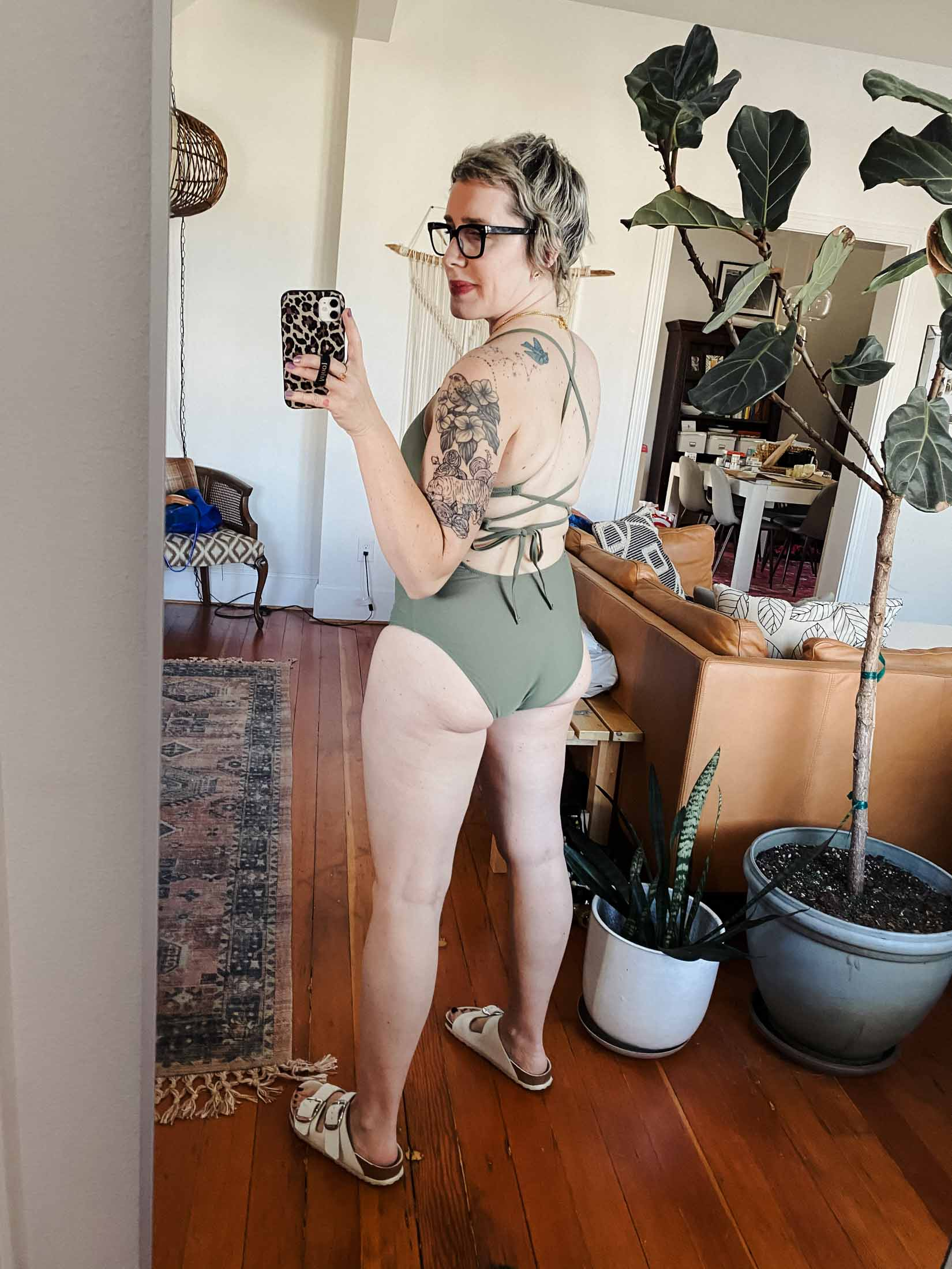 Aerie swimwear is totes popular, and while they make great swimsuits for younger folx, y'all, spoiler alert: women over 40 can rock them, too!