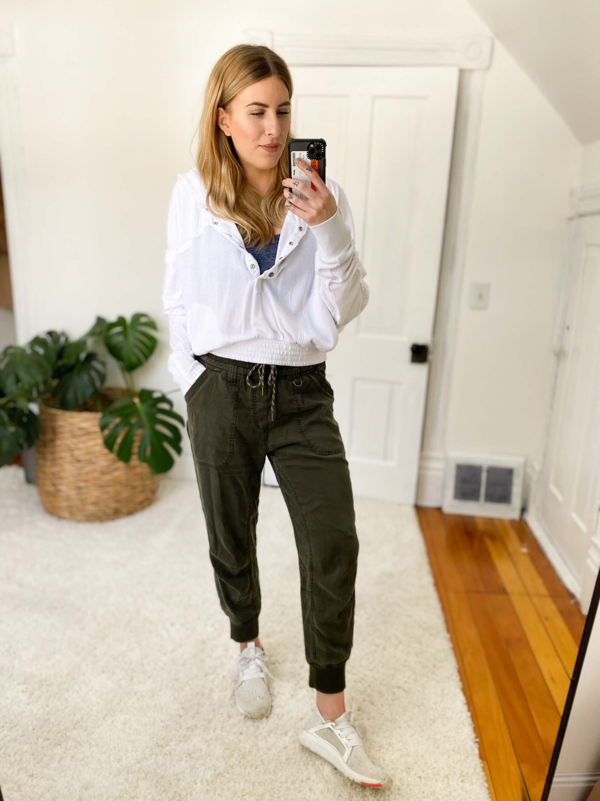 Lately I've been reaching for Anthro's Pilcro Mallory Joggers -- Tencel & silky soft. Bonus: they come in petite, regular, tall & plus sizing depending on the color!