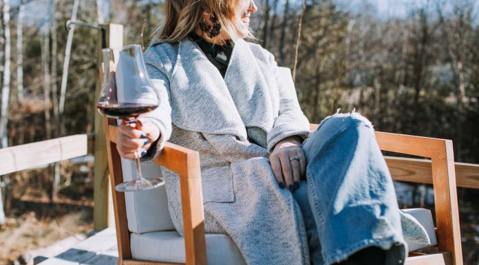 No babysitter, no dining out...But date night on the porch? YES. A little makeup, a fancy top, comfy jeans & a cozy jacket....Just add wine.