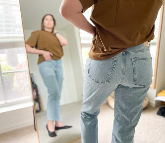 "When Everlane raved that the '90s Cheeky Straight Jean was back in stock, we said ""OK, sign us up."" So we tried all 3 styles. Review inside."