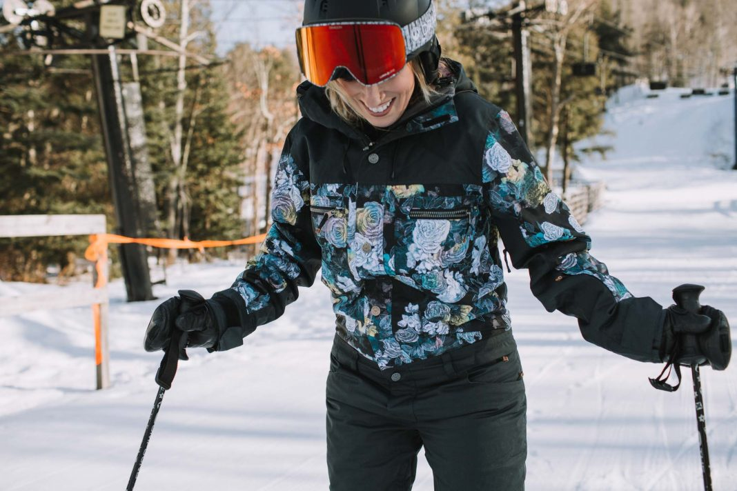 It's the kind of ski suit I've always wanted, way back when I was fan-girling about hot snowboarders (married to 1 now--#goals) + dreaming of being part of the