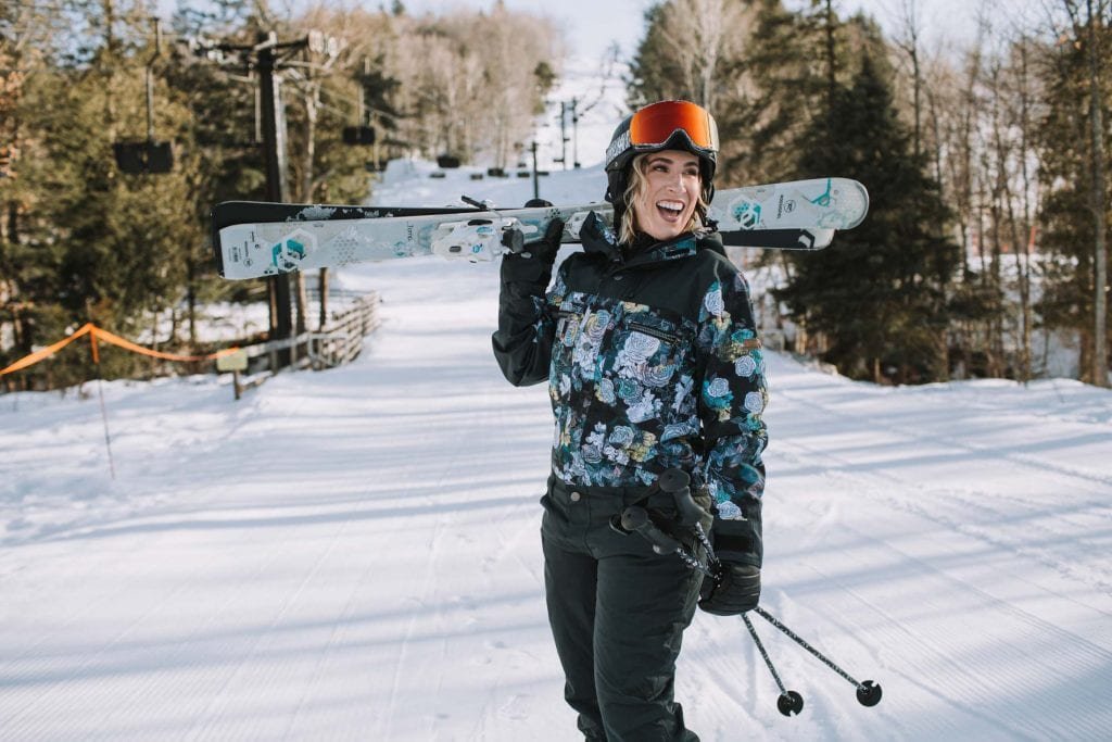 """It's the kind of ski suit I've always wanted, way back when I was fan-girling about hot snowboarders (married to 1 now--#goals) + dreaming of being part of the """"in"""" ski crowd."""